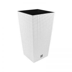 """Prosper Plast Drts265-s44926.5x 26.5x 50cm """"Rato"""" carré Pot de fleurs–Blanc de la marque Prosper Plast image 0 produit"""