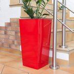 Prosper Plast Durs265–1788C 26.5x 26.5x 50cm URBI Square Pot à fleurs Corail de la marque Prosper Plast image 3 produit