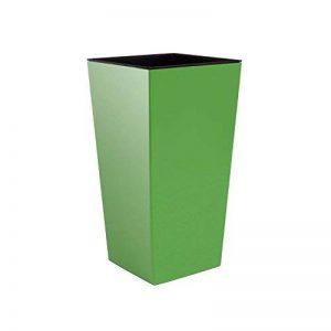 Prosper Plast Durs265–370u 26.5x 26.5x 50cm URBI Pot de fleurs carré Vert olive (12pièces) de la marque Prosper Plast image 0 produit
