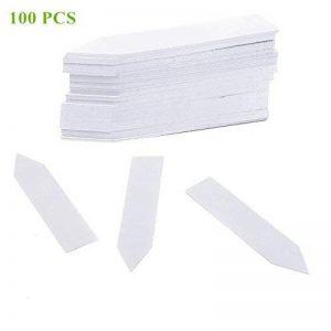 Qiorange 100 Pièces 100 mm Plastique étiquettes de Plantes / Marqueur de Jardin , Multicolores (100 Pcs Blanc A) de la marque Qiorange image 0 produit