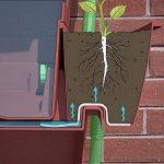 Rainwater Terrace Citerne d'eau 3 niveaux 200 litres. Avec 1 cache-pot et 4 jardinières - Terre cuite de la marque Rainwater Terrace® image 3 produit