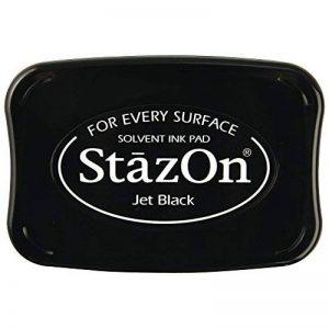 Rayher tampon encreur StazOn – encre permanente pour embellir les cartes & autres – tampon scrapbooking pour vos activités de loisirs créatifs – noir de la marque Rayher Hobby image 0 produit