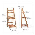 Relaxdays Escalier pour plantes bois échelle plante support intérieur HxlxP: 107,5 x 41 x 25 cm 3 niveaux - marron de la marque Relaxdays image 1 produit