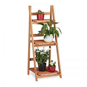 Relaxdays Escalier pour plantes bois échelle plante support intérieur HxlxP: 107,5 x 41 x 25 cm 3 niveaux - marron de la marque Relaxdays image 0 produit