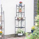 Relaxdays Etagère à fleurs de coin en métal 5 niveaux GOTH meuble plantes pliable présentoir HxlxP: 160 x 36 x 36 cm, noir de la marque Relaxdays image 1 produit