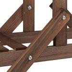Relaxdays Etagère à fleurs en bois escalier pour plantes échelle plantes intérieur HxlxP: 142,5 x 83 x 28,5 cm brun foncé de la marque Relaxdays image 4 produit