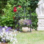 Relaxdays Etagère à fleurs en métal 2 niveaux support plantes extérieur balcon terrasse jardin HxlxP: 64,5 x 33,5 x 18 cm, noir de la marque Relaxdays image 1 produit