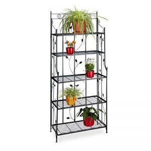 Relaxdays Etagère à fleurs pliable en métal 5 niveaux GOTH meuble plantes HxlxP: 173 x 73 x 34 cm, noir de la marque Relaxdays image 0 produit