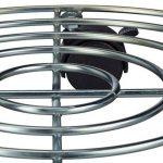Relaxdays Porte plantes à roulettes avec freins support pot de fleurs rond en métal HxlxP: 6 x 32 x 32 cm, argenté de la marque Relaxdays image 3 produit