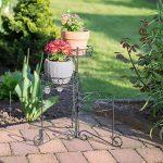 Relaxdays Porte plantes support pot de fleurs 3 étages 50 cm de hauteur décoratif, noir de la marque Relaxdays image 1 produit