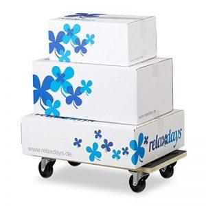 Relaxdays Socle roulant avec freins chariot à roulettes pour meubles jusqu'à 400 kg revêtement antidérapant HxlxP: 11,5 x 58 x 30 cm, noir de la marque Relaxdays image 0 produit