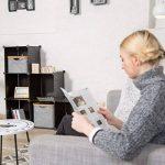 Relaxdays Étagère escalier 6 compartiments meuble bibliothèque séparation multi-cases séparateur de pièces, noir de la marque Relaxdays image 1 produit