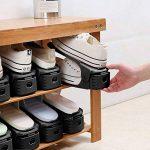 Réglable à chaussures, 3 niveaux de hauteur réglable supports à chaussures, chaussure organisateur Space Saver Rack stockage chaussures support durable Shoe Stacker Holder, 8PCS de la marque HOBFU image 3 produit