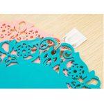 Rou0nd Gel de silice Coaster Dentelle Fleurs Coussin à café Coussins isolants Dessous de verre antidérapant Assiettes à vaisselle grandes Assiette à couverts Moyen petit 10 en 1 de la marque Limiz image 3 produit