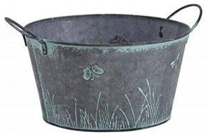 Round Métal Vintage Shabby Jardinière Pot Libellule Papillon design Herbes Ampoules de la marque Homes on Trend image 0 produit