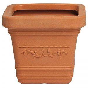 Saturnia 8093435–Carré 40x 40cm Couleur terre cuite pour pot de fleurs de la marque Saturnia image 0 produit