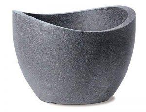 Scheurich 53379 250/30 Wave Globe Pot de Fleurs Plastique Granit Noir 30 x 30 x 22 cm de la marque Scheurich image 0 produit
