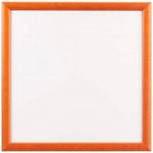 Sgaravatti KalaMitica Plaque Métallique, 30x30 cm avec encadrement en bois, Blanc/Orange de la marque Sgaravatti image 0 produit