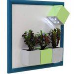 Sgaravatti KalaMitica Plaque Métallique, 30x30 cm avec encadrement en bois, Blanc/Turquoise de la marque Sgaravatti image 2 produit