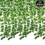 SMALUCK Lot de 2451,2m Guirlande de lierre artificielle Faux Ivy Vine Plante à suspendre pour guirlande de mariage Faux feuillage Fleurs Home de cuisine Jardin Bureau Mariage Décoration murale de la marque SMALUCK image 1 produit