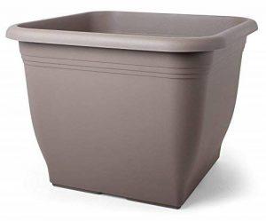 Smart de Planet® Haute Qualité Pot/Pot flórina carré carrée–Pot en plastique 40x 40cm–Taupe de la marque Smart Planet image 0 produit
