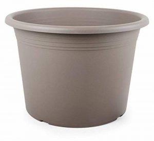 Smart de Planet® Haute Qualité Pot/Pot flórina Cylindre Rond–Pot en plastique 50cm–Taupe de la marque Smart Planet image 0 produit