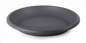 Smart Planet® 39cm de qualité flórina Soucoupe ronde pour pot avec 40cm de diamètre–Anthracite de la marque Smart Planet image 0 produit