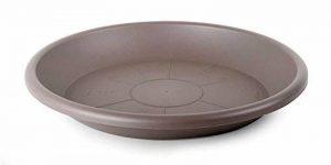 Smart Planet 39cm de qualité flórina Soucoupe ronde pour pot de 40cm de diamètre–Taupe de la marque Smart Planet image 0 produit