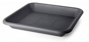 Smart Planet plats rectangulaires flórina 41x 41de qualité pour pot avec 48x 48cm–Anthracite de la marque Smart Planet image 0 produit