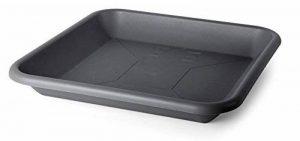 Smart Planet® plats rectangulaires flórina 49x 49de qualité pour pot avec 58x 58cm–Anthracite de la marque Smart Planet image 0 produit