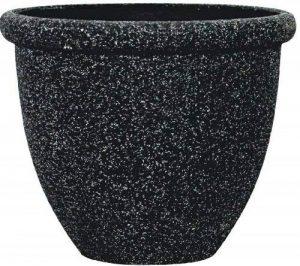 Stone Light SB Lot de 2 pots ronds en pierre Grès noir vieilli 37 cm de la marque Stone Light image 0 produit