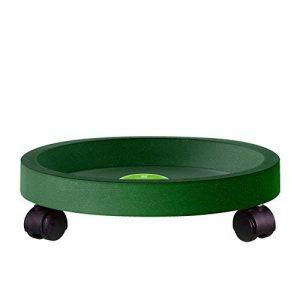 Sungmor PP de grande qualité Multi-dimension Pot soucoupe avec roulettes, Pot de fleurs Mover, Pot de fleurs Trolly, plantes, support Caddy Small(28.5cmL*28.5cmW*7.5cmH) vert foncé de la marque Sungmor image 0 produit