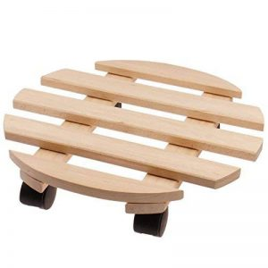 Support porte plantes à roulettes Ø 35 cm en bois de hêtre - Tablette à roulettes pour pots de fleur de la marque PROHEIM image 0 produit
