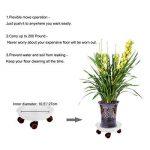 T4U 30CM rond roule-pot avec 4 roulettes en plastique pour porte plante lot de 4, déplacer avec roullettes support plante Chariot plantes avec roues de la marque T4U image 2 produit