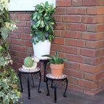 Tabouret Lot de 3mosaïque Fleurs Rond Jardin Fleurs Support Métal terrasse Lesli Céramique Tabouret 3er Set de la marque Dszapaci image 1 produit