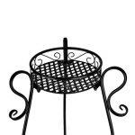 Étagère Colonne Pots de Fleurs Plantes Jardinière en Métal Fer Forge Noir -Dazone® de la marque Dazone image 4 produit