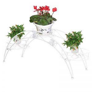 Étagère de Pots de Fleurs Plantes Arche en Métal Fer Forge pour Décoration Maison Jardin Blanc-Dazone® de la marque Dazone image 0 produit