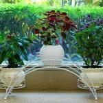 Étagère de Pots de Fleurs Plantes Arche en Métal Fer Forge pour Décoration Maison Jardin Blanc-Dazone® de la marque Dazone image 4 produit