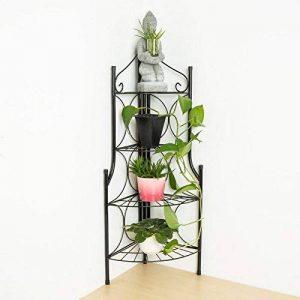 TecTake Etagère de jardin pour plantes escalier en fer 4 niveaux | env. 30x30x106cm | charge max: env. 40 kg de la marque TecTake image 0 produit