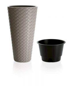 Terra 5900342100Matuba Vase avec pot et style tressé en plastique 30x 55cm de la marque Terra image 0 produit
