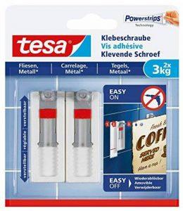 Tesa 77765 - Lot de 2 Vis adhésives ajustable pour carrelage 3 Kg de la marque Tesa image 0 produit