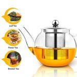 Théière, Théière en verre de 750 ml avec infuseur par Raypard cuisinière, micro-ondes et lave-vaisselle, passoire à thé pour thé en vrac et Blooming Thé de la marque RayPard image 1 produit
