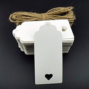 Ultnice 100pcs imprimables étiquettes Prix étiquette Blank Tag étiquettes dragées en papier Kraft avec corde de 20m Décoration de fête de mariage de la marque ULTNICE image 0 produit