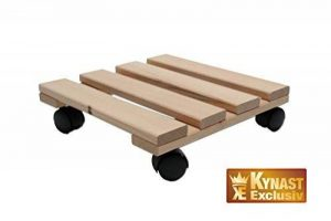 Unbekannt Chariot pour plantes en bois massif carrée 30x 30cm jusqu'à 120kg de la marque Unbekannt image 0 produit