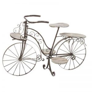 Vélo porte plante décoratif jardinière en bois chêne et fer forgé pour jardin, terrasse , véranda ou intérieur ! de la marque HESPERIDE image 0 produit