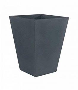 Vondom 41218à pot de fleurs cône carré haut Nano Basic de 18x 18x 36CM, Couleur Anthracite de la marque Vondom image 0 produit
