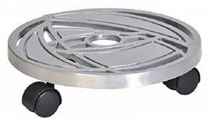 """'Wagner Chariot pour plantes """"Space Design–Fonte d'Aluminium, Argent, motif abstrait, diamètre 29,5x 7,1cm, charge maximale 60kg–20091501 de la marque Wagner System GmbH image 0 produit"""