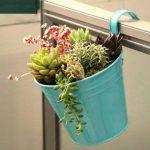 Wiiguda@LOT 8 Pots de Fleurs Suspendu Colorés en Metal Pot de fleur Extérieur Plante avec Accroche Amovible Décoration Jardin Maison Balcon de la marque Wiiguda image 4 produit