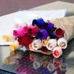 WINOMO 24pcs Fleurs Artificielles Rose en bois avec Tiges Colorées Bouquet de Fleurs Artificielles Deco de la marque WINOMO image 2 produit