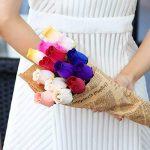 WINOMO 24pcs Fleurs Artificielles Rose en bois avec Tiges Colorées Bouquet de Fleurs Artificielles Deco de la marque WINOMO image 4 produit